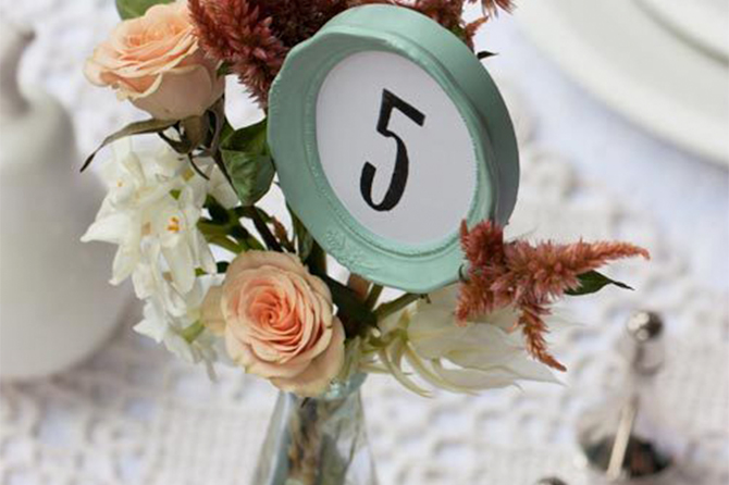 A cute frame is always a beautiful way to dress up your DIY table numbers and add interest.