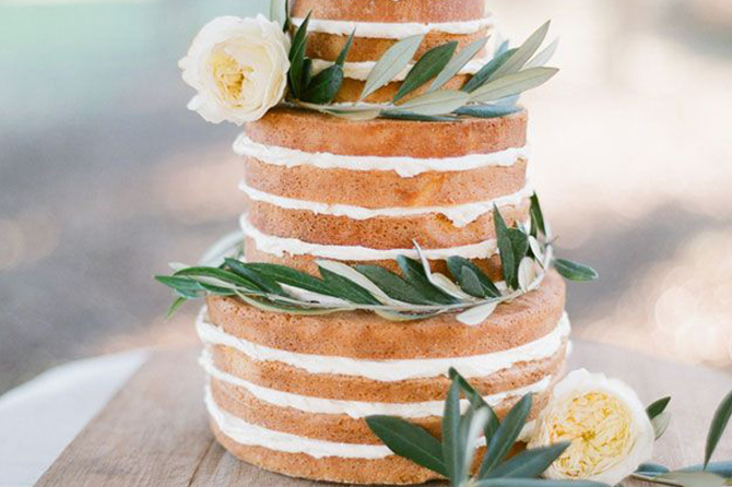 A big difference between the traditional fondant-covered #wedding cakes, the trend of the #nakedweddingcake is one that many couples are getting excited about and will be one of the biggest #wedding trends for 2016!