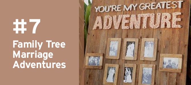 Pay a sentimental tribute to the marriages that came before yours with this beautiful #familytree idea. Take a look here for MORE #travel-inspired details for #destinationweddings.