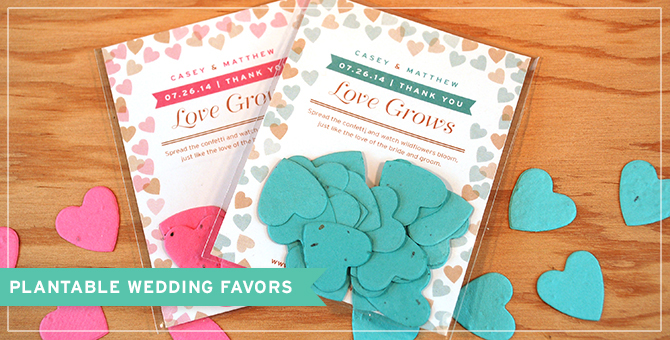 Hand these delightful favors out at your next big celebration - they grow wildflowers and leave no waste.