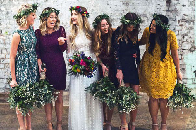 If you're a #bridetobe and you're looking for a unique way to make your #bridesmaids really happy, you'll love the trend of allowing them to mismatch their dresses! This will not only give them the opportunity to choose a dress that best matches their style and color preferences, but it'll also make sure the feel confident and happy during your wedding.