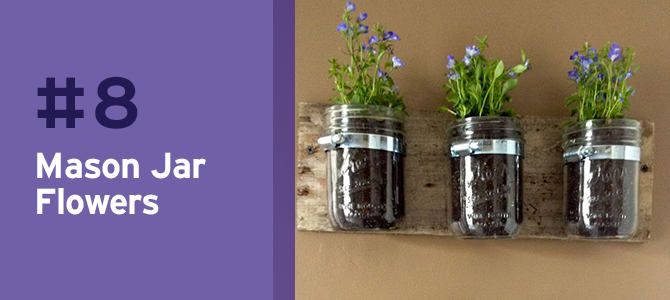 Mason jars never disappoint. Used as creative planters, these jars are rustic, chic and adorable!