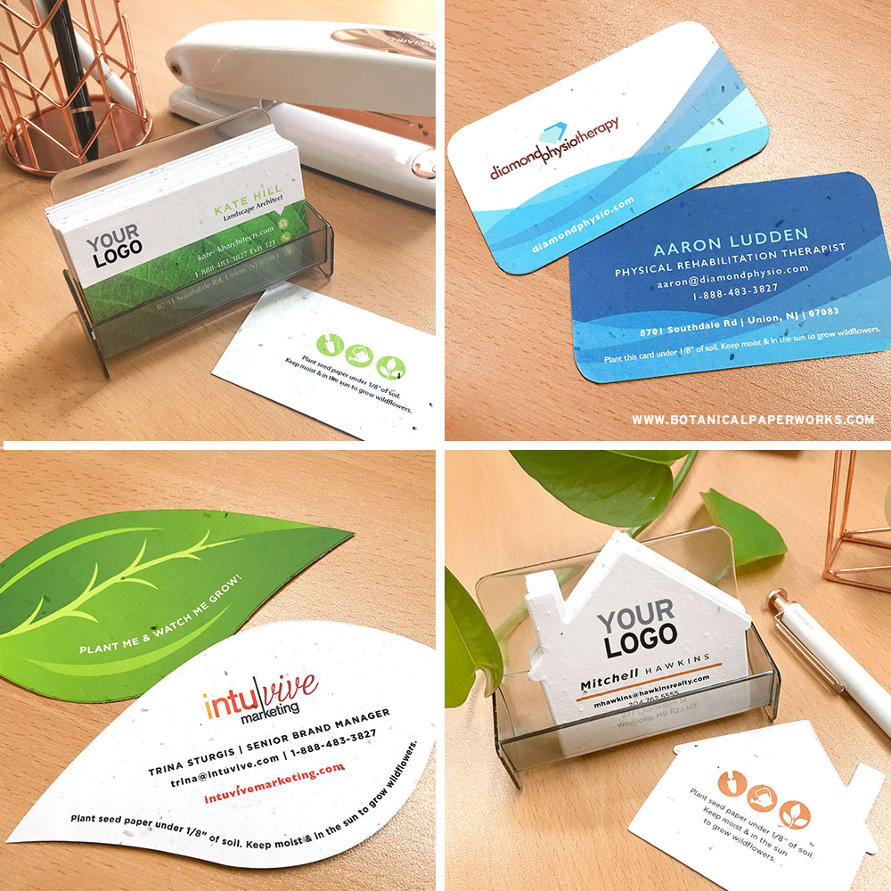 Save the designer fees with these add-your-logo seed paper business cards that grow!