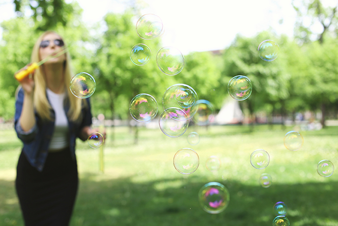 Bubbles are a fun alternative to balloon releases.