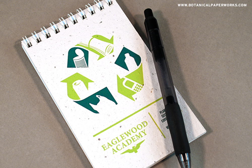 These eco notepads are a great giveaway for America Recycles Day events.