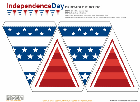 Botanical PaperWorks Seed Paper Independence Day Free Printables