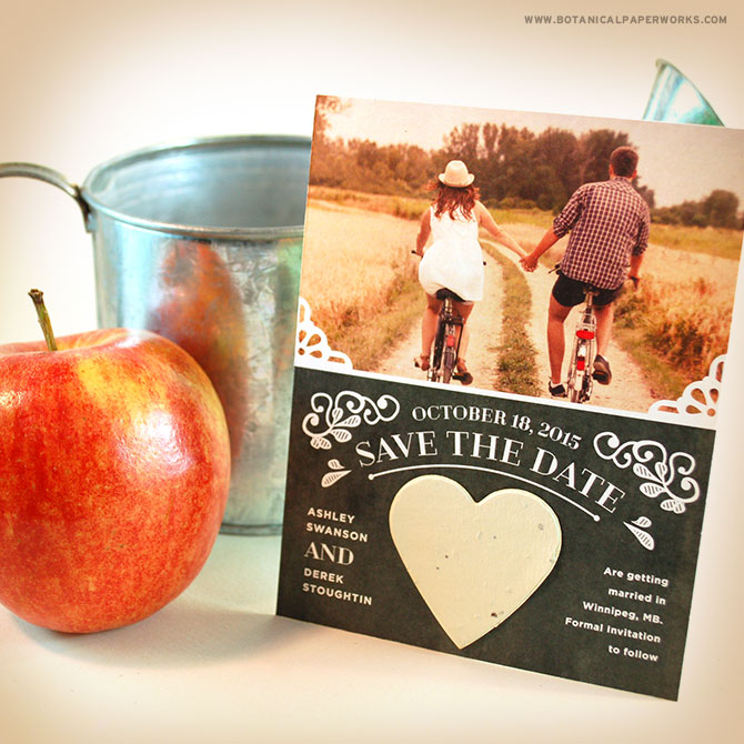 These autumn-inspired #seedpaper #savethedates are great for sending if you're getting married in the #fall!