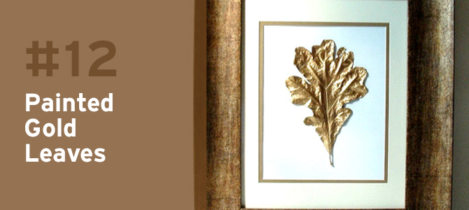 These simply beautiful gold leaves are dripping with style and elegance.