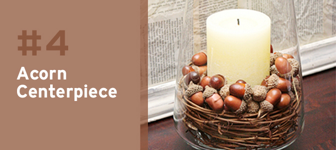This DIY acorn centerpiece adds a warm touch to your autumn decor.