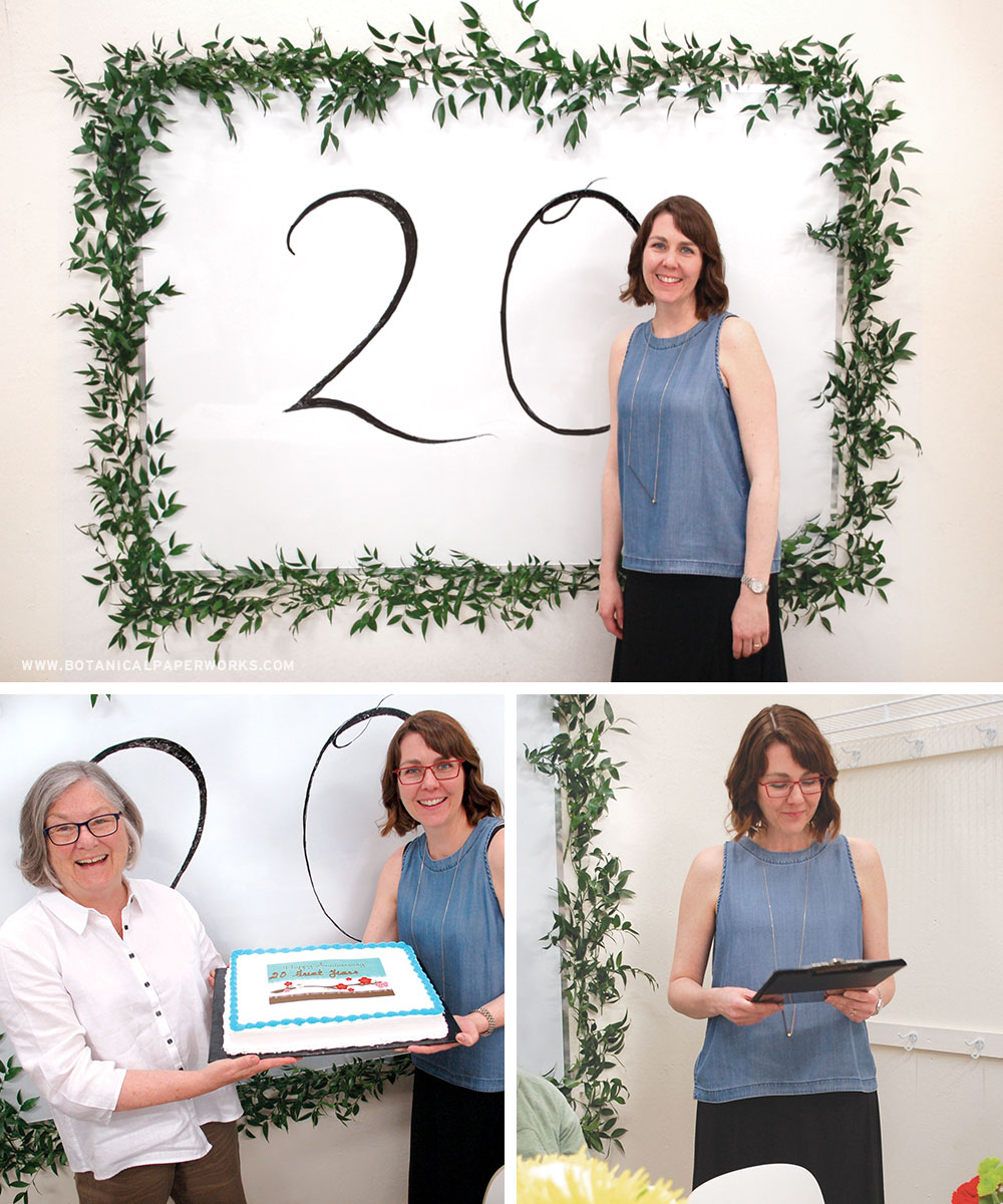 Botanical PaperWorks marked their 20th anniversary with a delicious celebratory lunch topped off with cake and some beautiful words from the CEO.