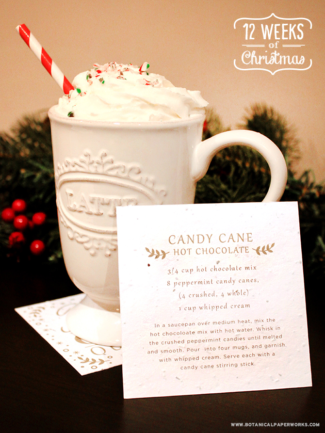 Is there anything more comforting and festive than a piping hot cup of Peppermint Hot Chocolate? Get this recipe, as well as several others in our FREE Homemade Hot Chocolate Gift.