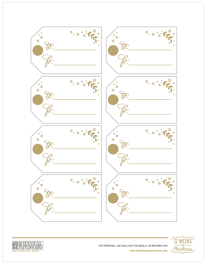 These golden gift tags are included in our FREE printable Homemade Hot Chocolate Gift.