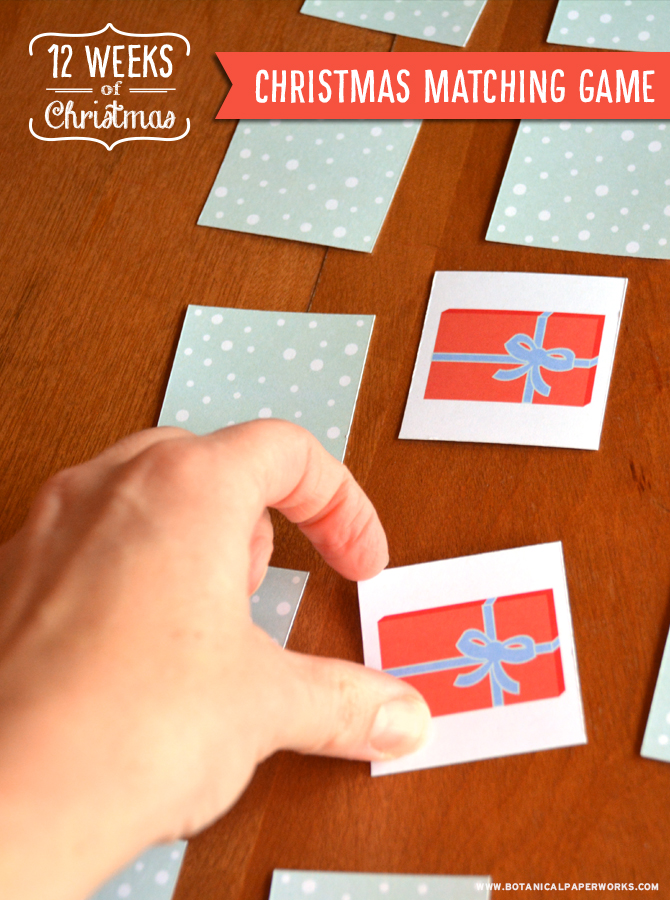 Print this FREE Christmas memory matching game to give the kids something to do on those cozy winter nights at home.