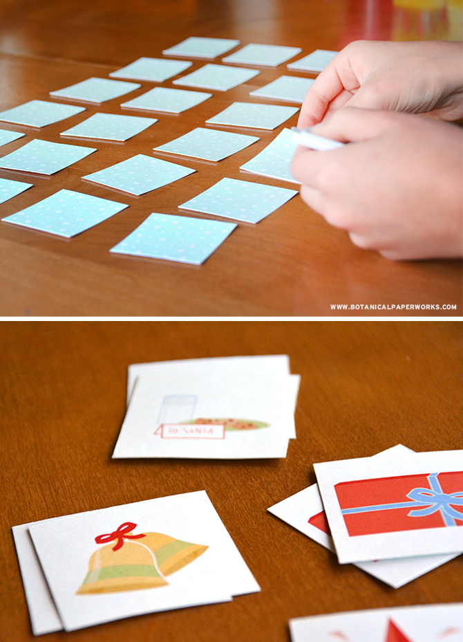 Simply print, trim and play this Christmas themed FREE printable game.