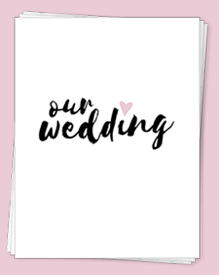 Our free Wedding Planning Binder Download comes in three fresh color options so you can pick your favorite color and get started planning your big day!