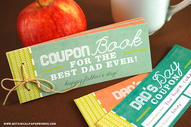 Create a coupon book for dad this Father's Day and fill it will all kinds of creative gift ideas.