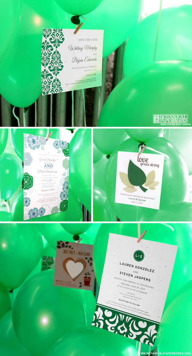 Botanical PaperWorks Emerald Green Launch Party