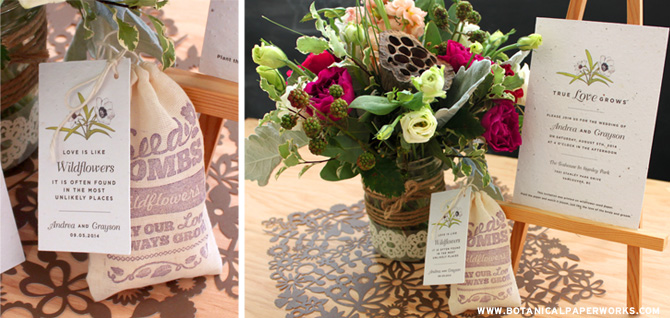 Botanical PaperWorks New Love Grows Wedding Collection
