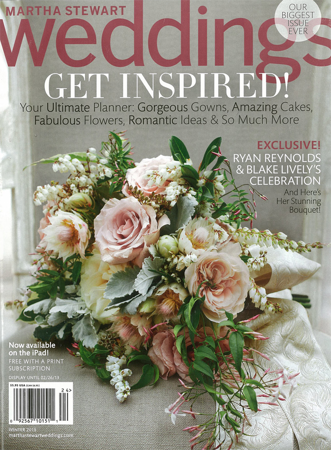 Botanical PaperWorks Plantable Custom Stationery Featured in Martha Stewart Wedings Magazine