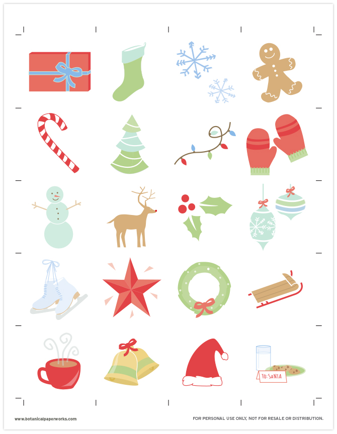 Download this FREE printable PDF to play a classic game of memory with this holiday matching game.