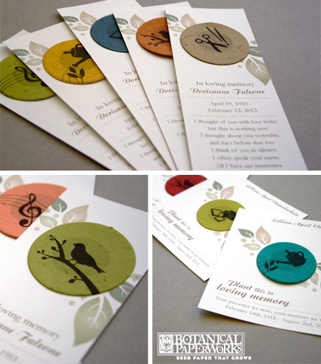 Botanical PaperWorks New Hobby Memorial Collections