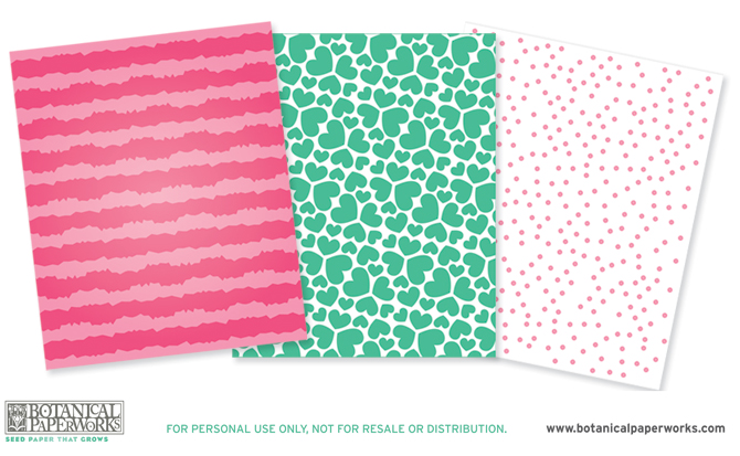 Botanical PaperWorks Free Printables Eco Monster Wrapping Paper
