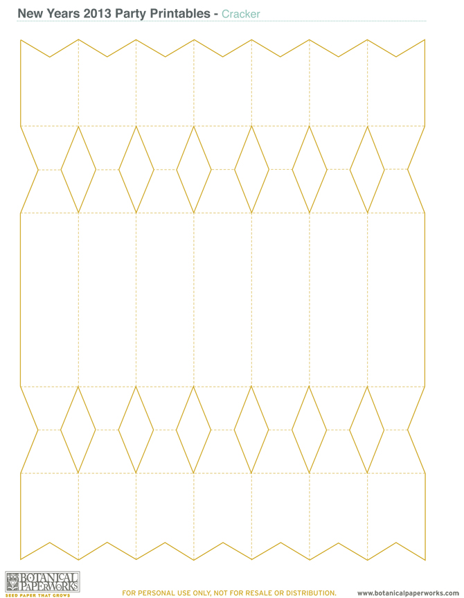 Botanical PaperWorks Free Printables: Happy New Years Party Kit