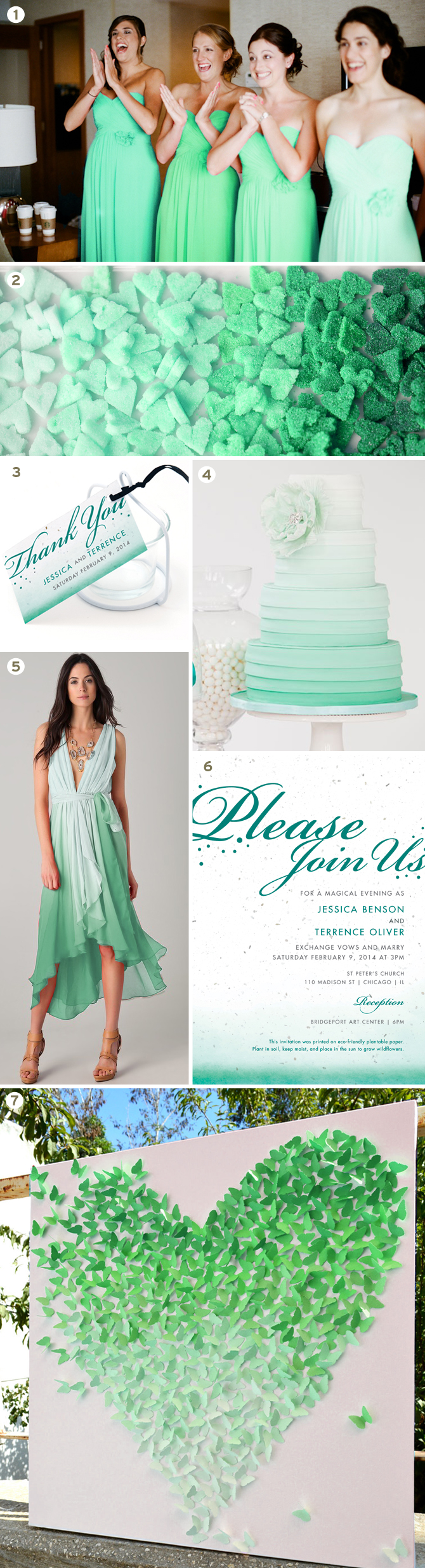 Botanical PaperWorks Inspiration Board: Ombre Wedding