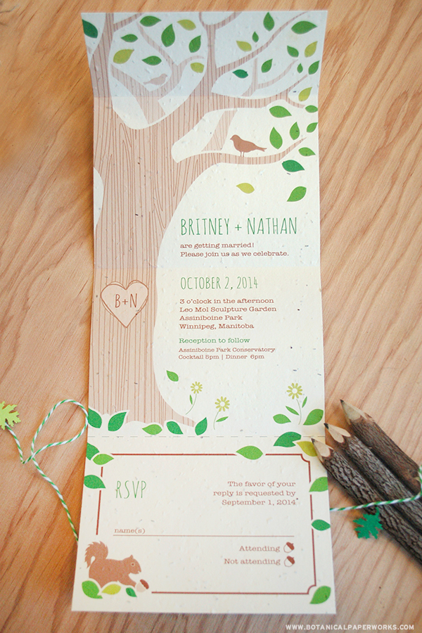 The Rustic Tree Wedding Invitation was one of the winners!