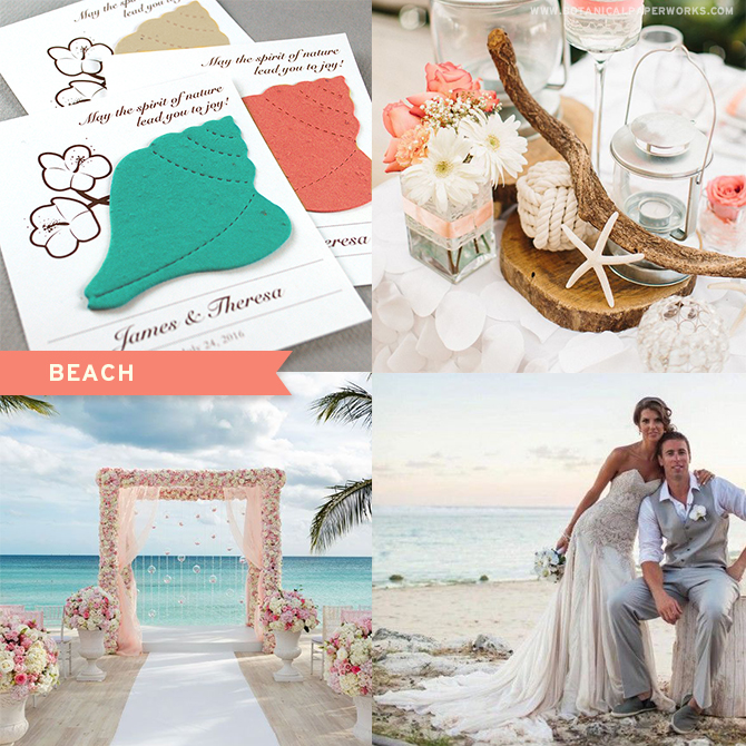 Find out which #seedpaper #weddingfavors will best match up with your #beach wedding theme! Eco-friendly and stylish, these products will actually benefit the earth!