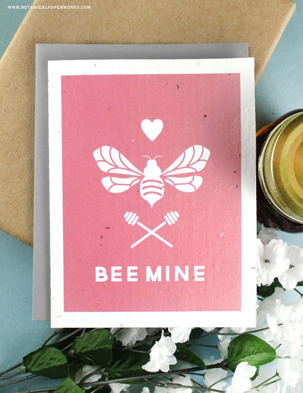 Help save bees and wish your sweetie a Happy Valentine's Day at the same time with these adorable Bee Mine Valentine's Day Cards printed on eco-friendly seed paper.