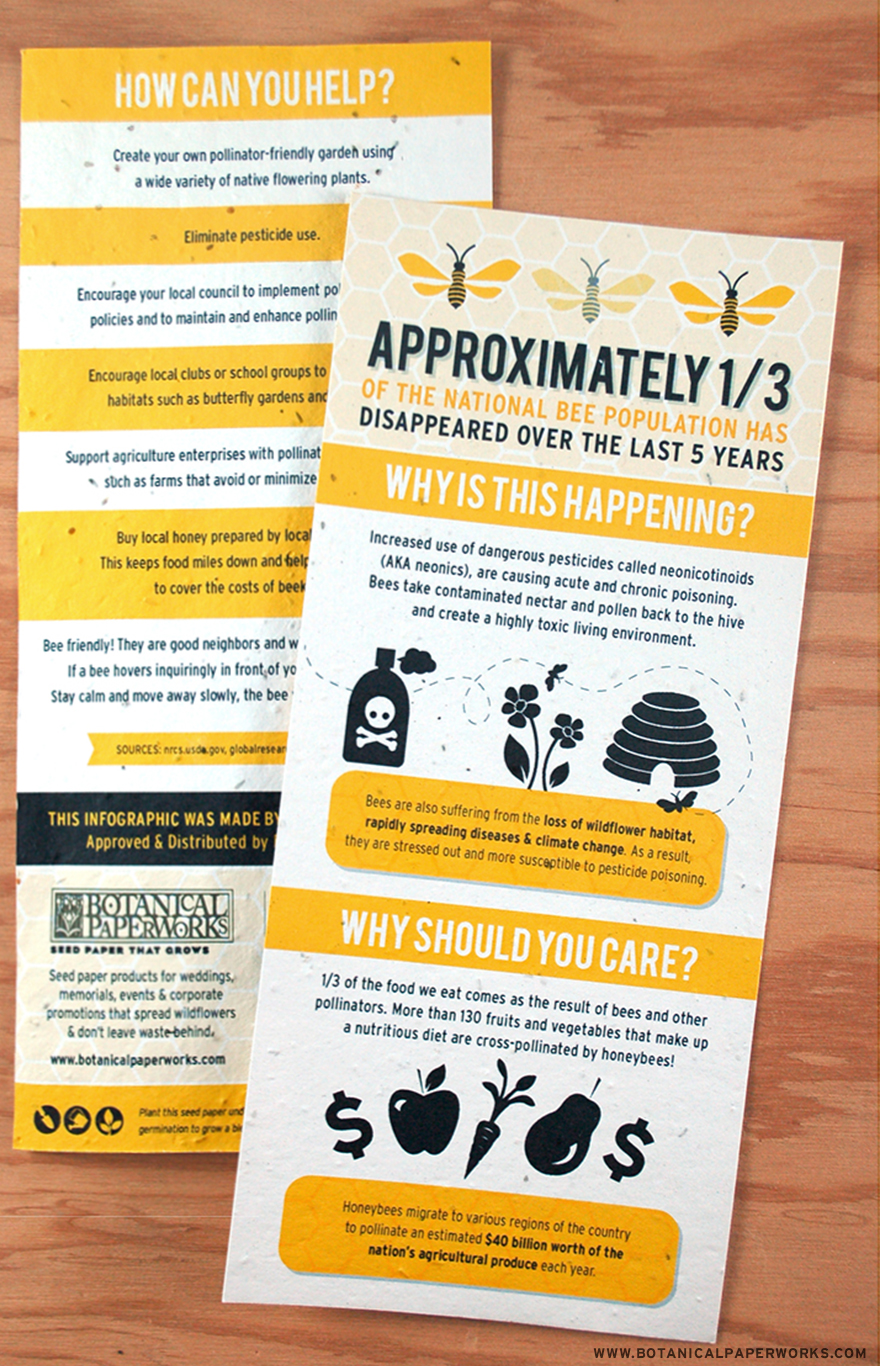 Take a look at our latest #casestudy to learn why the Beeproject Apiaries chose wildflower seed paper for their #SaveTheBees infographic on #EarthDay!