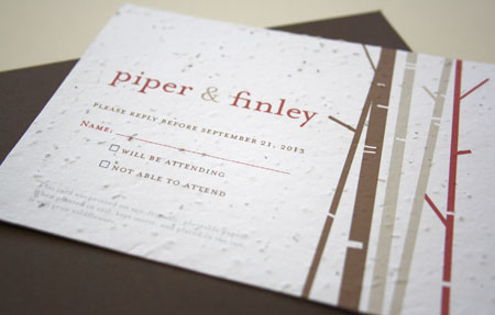 birch plantable reply card