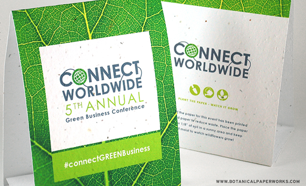 Botanical PaperWorks offers plantable wristbands, event-day stationery and other eco-friendly marketing materials that are great for eco-friendly event planning.
