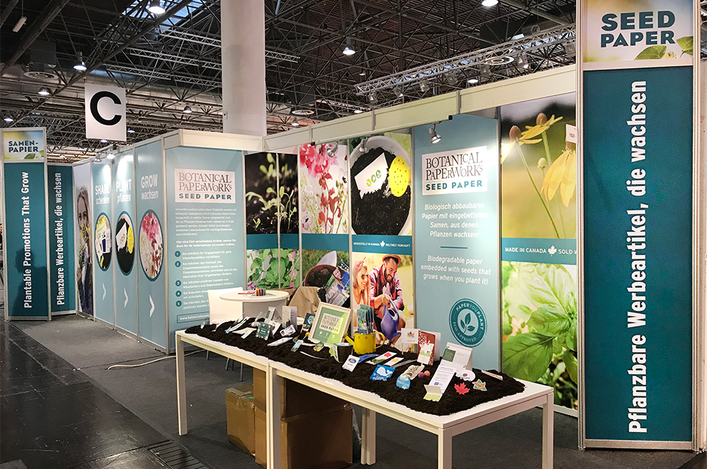 Botanical PaperWorks booth at PSI in Dusseldorf