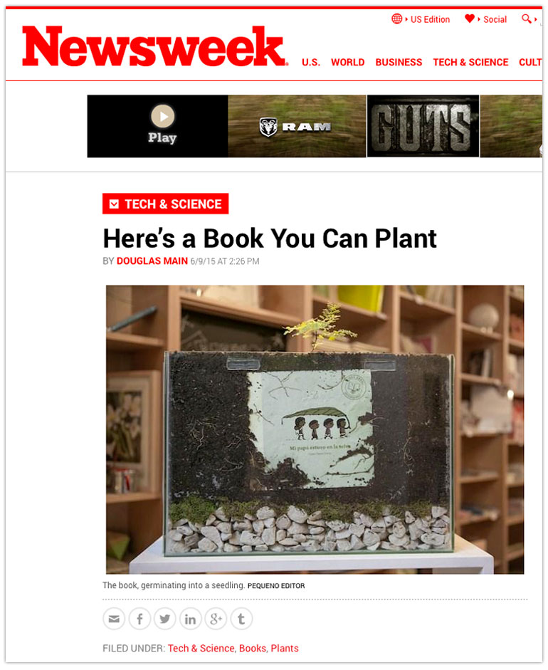 We're thrilled that #Newsweek chose us as the supplier of choice for #seedpaper products! Learn more about their creative plantable #book project made with #ecofriendly paper!