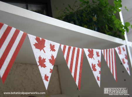 Botanical PaperWorks Seed Paper Canada Day Free Printables