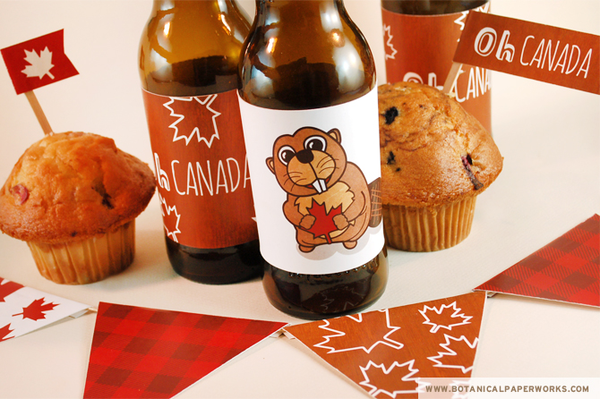 Plan a rustic Canada Day party by the fire and decorate the picnic tables and bottles with these fun FREE printables.