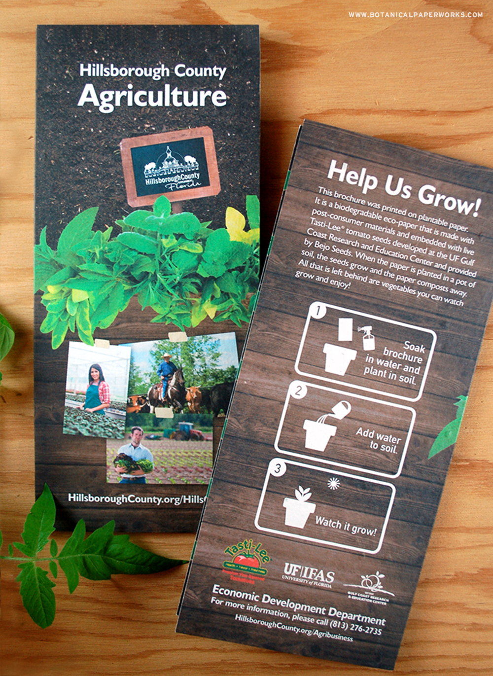 Take a look at this Case Study to find out how Hillsborough County used seed paper brochures to promote and educate.
