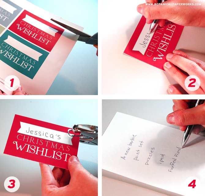 Find out how to turn these FREE printables into adorable Upcycle Christmas Wish List's!