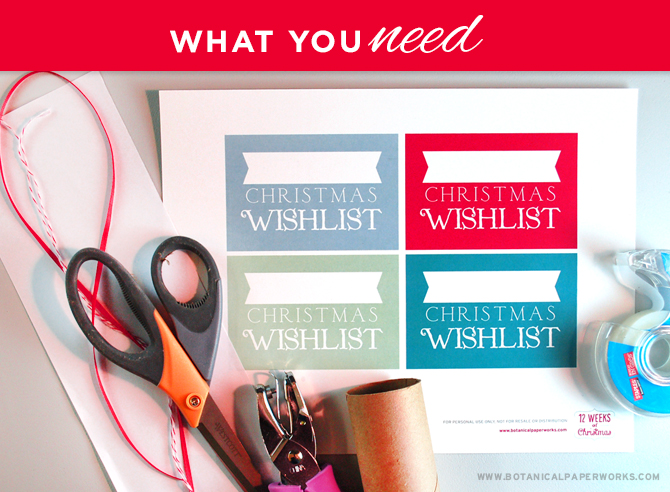 Find out how to make a fun and eco-friendly Upcycle Christmas Wish List Craft with a FREE Printable!