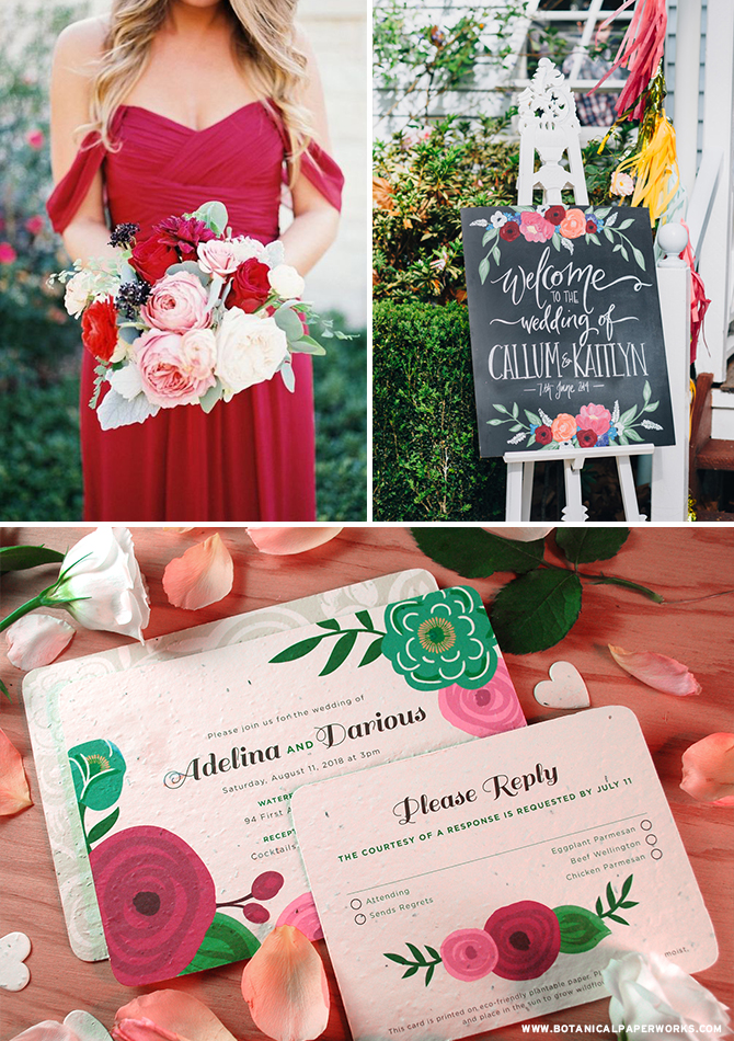In anticipation for summer soirées, we're excited to introduce the Romantic Floral #SeedPaper #Wedding Collection inspired by the natural beauty of lush blooms. #brides #wedding invitations
