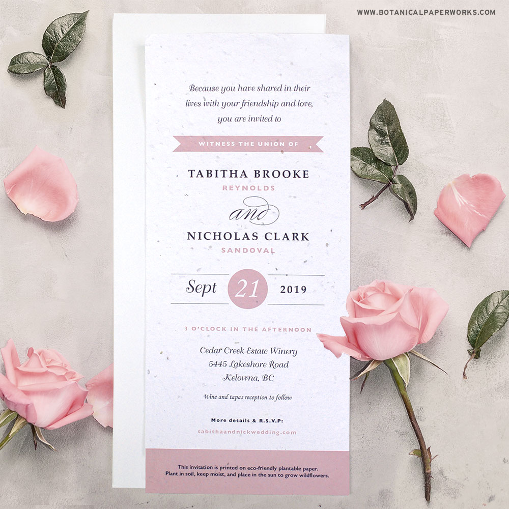 Classic and sophisticated, these typography-based wedding invitations are perfect for weddings of any style because they are so simple!