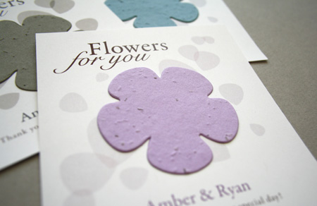 classic flower plantable seed paper favor
