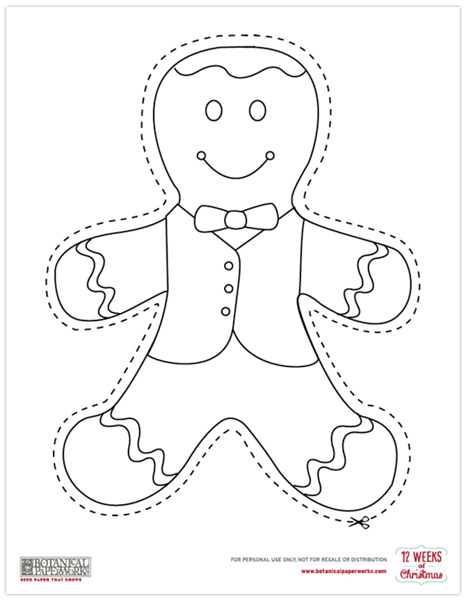 How cute is this Gingerbread Color Cutout? Did we mention it's FREE? Get this plus 2 more printables now!