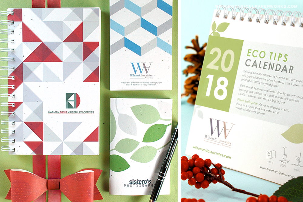 for the recipients and gain yourself a place in the their mind that is positive and respected.  Corporate gifts like plantable stationery and calendars featuring your branding will help build brand recognition and loyalty.