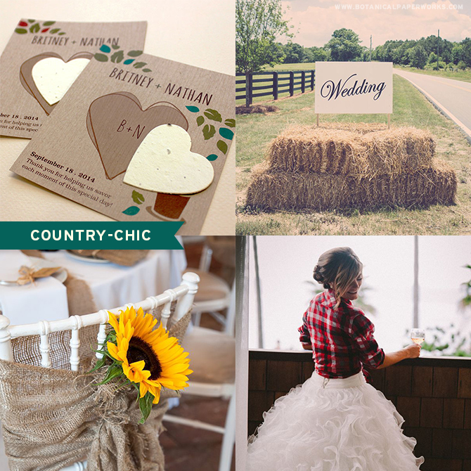 Learn which carefully selected #seedpaper #weddingfavors will best match your #country chic style! Completely eco-friendly and stylish, these favors all grow wildflowers when planted!