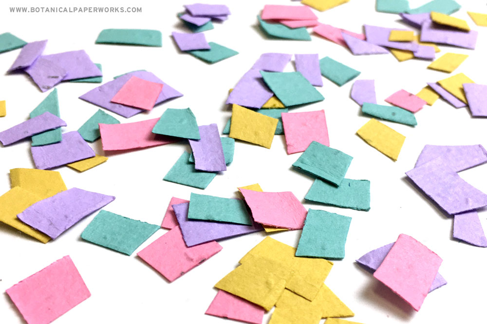 Make seed confetti with the excess paper clipping when crafting with seed paper so nothing goes to waste!