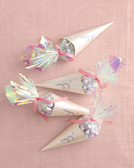 Botanical PaperWorks Plantable Paper Candy Cone Wedding Favors