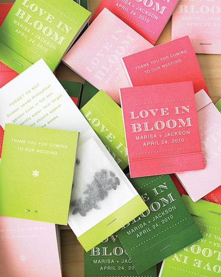 Botanical PaperWorks Plantable Paper Matchstick Wedding Favors